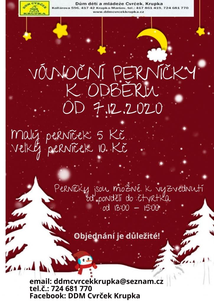 Vánoční perníčky k odběru od 7.12.2020